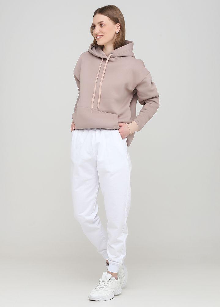 """Белые демисезонные брюки-джоггеры """"Only Women"""" (низкий рост)"""