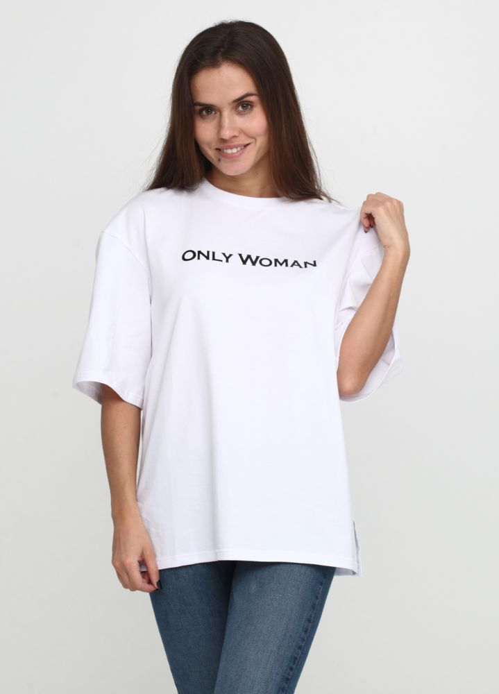 "Футболка ""Sheina"" ""Only Women"" с чёрным лого сзади"