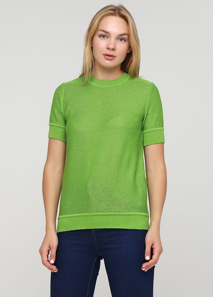 """Блузка """"Only Women"""" из итальянской шерсти зеленая"""