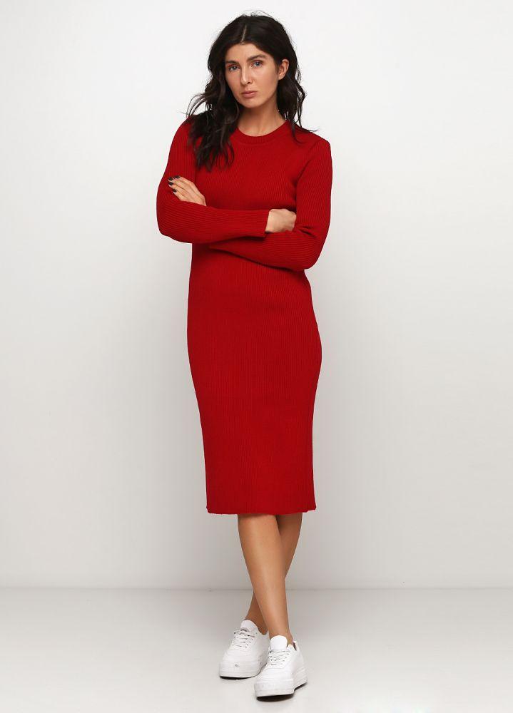 """Красное платье """"Only Women"""" из итальянской шерсти"""