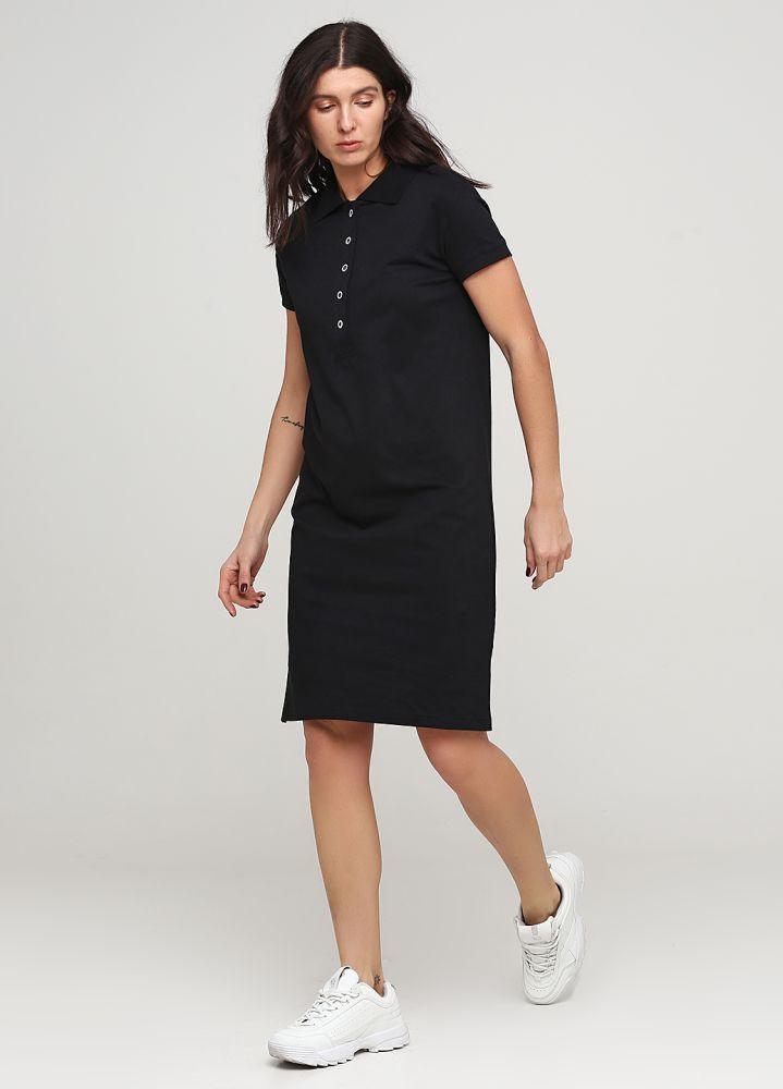 Платье Polo летнее Only Women черное из лакосты