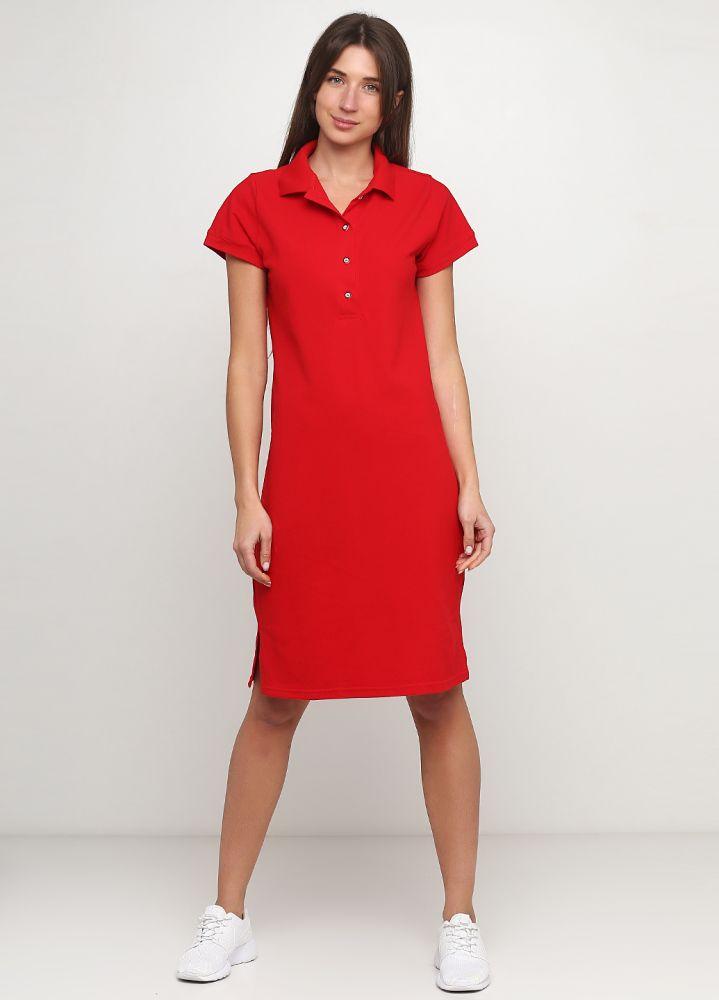 Платье Polo красное Only Women
