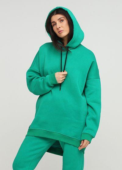 "Худи ""Only Women"" зеленое mega oversize"