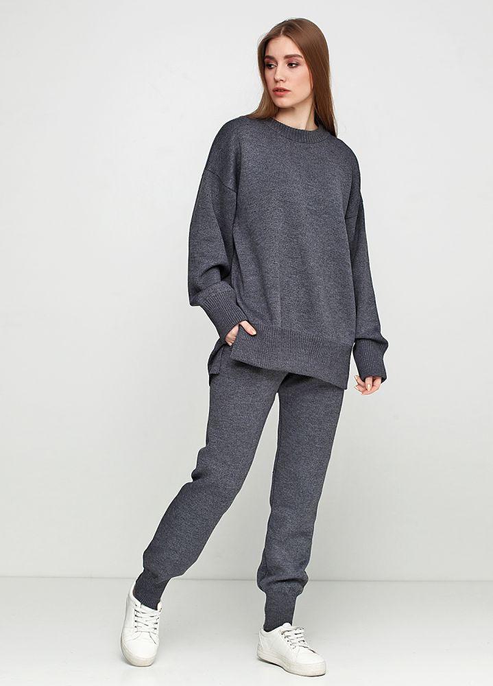 Костюм (джемпер, брюки) женский Only Women вязаный из итальянской шерсти серый