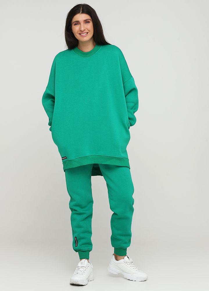 Брюки - джоггеры женские зимние Only Women зеленые