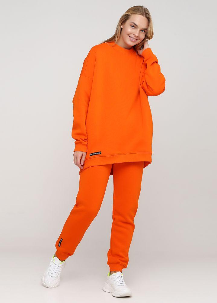 Брюки-джоггеры женские зимние Only Women оранжевые (высокий рост)