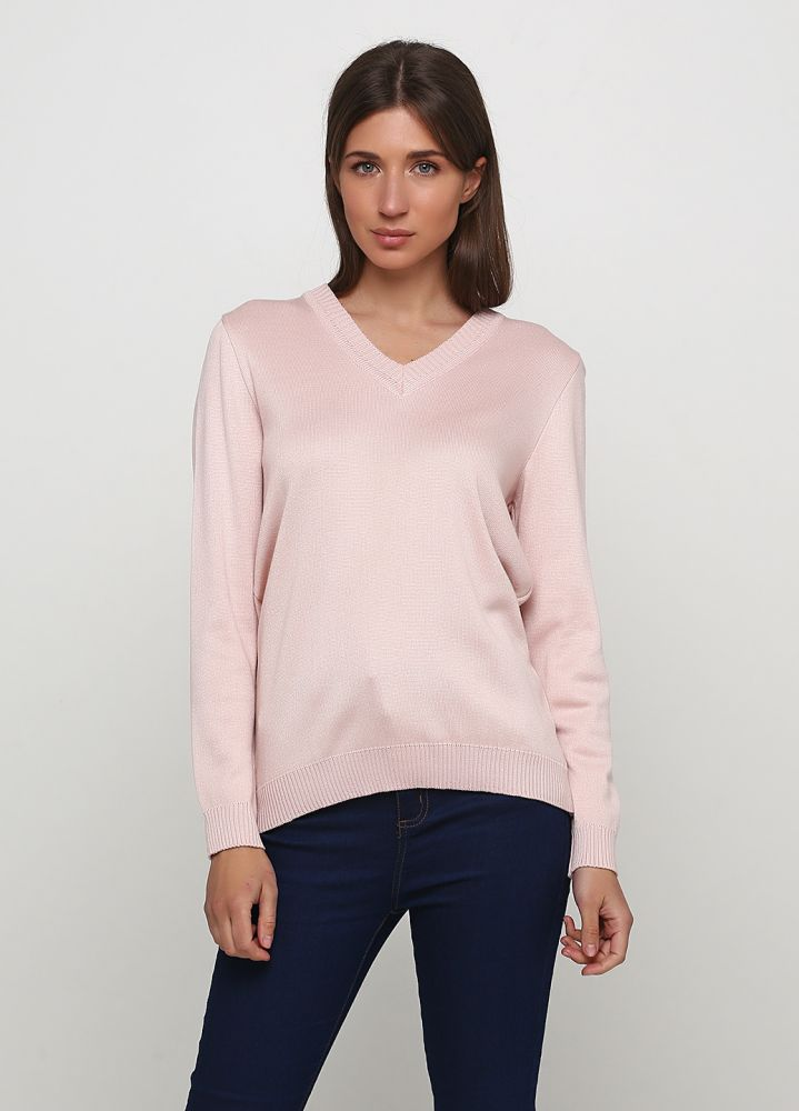 Пуловер женский Only Women вязаный пудра из хлопка