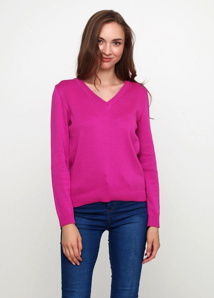Пуловер женский Only Women вязаный пурпурный из хлопка