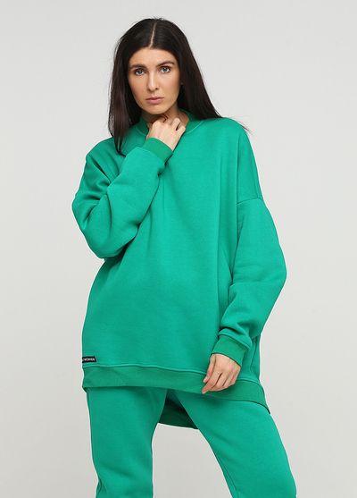 """Свитшот """"Only Women"""" зеленый mega oversize"""