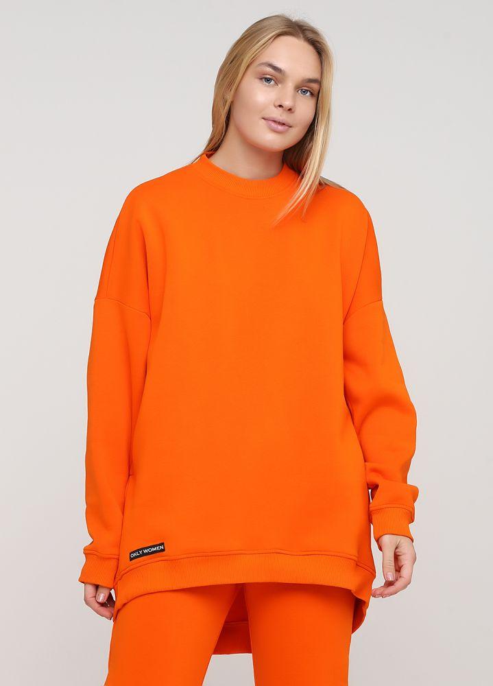 Свитшот женский Only Women оранжевый mega oversize