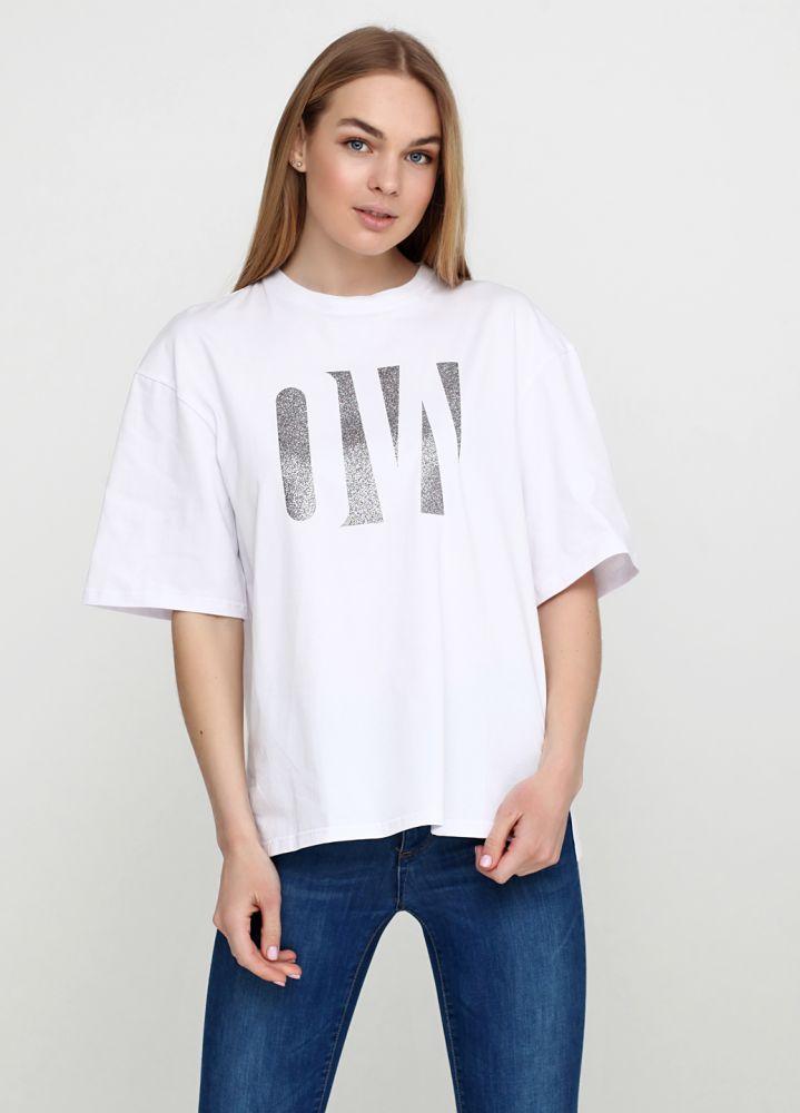 Белая женская футболка Only Women с рисунком