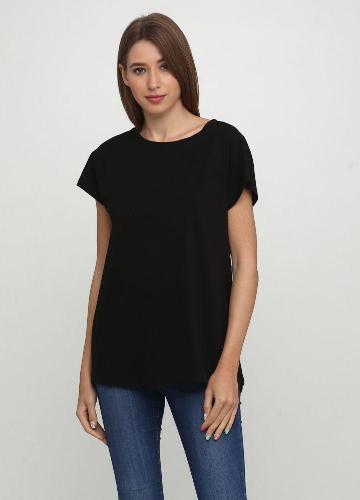 """Черная футболка """"Only Women"""" с маленьким белым лого сзади"""