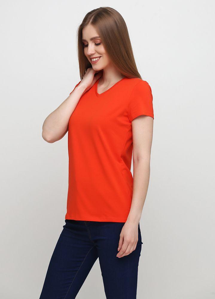 """Футболка женская оранжевая """"Only Women"""" с оранжевым логотипом сзади"""