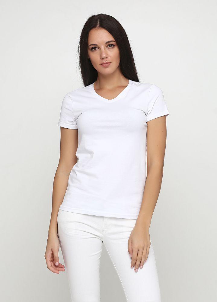 Футболка женская Only Women V-горловина с белым лого сзади