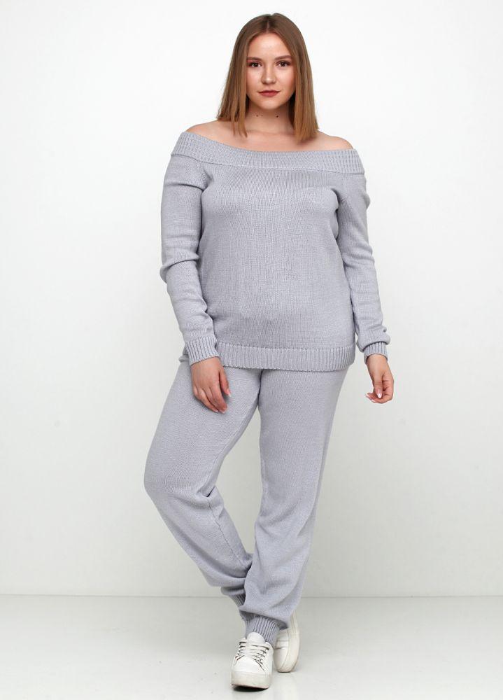Костюм женский светло-серый Edira (джемпер, брюки) 1