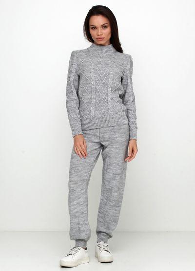 Костюм женский светло-серый Edira (свитер, брюки) 2