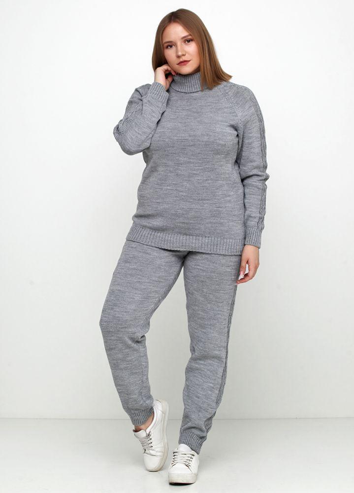 Костюм женский серый Edira (свитер, брюки)